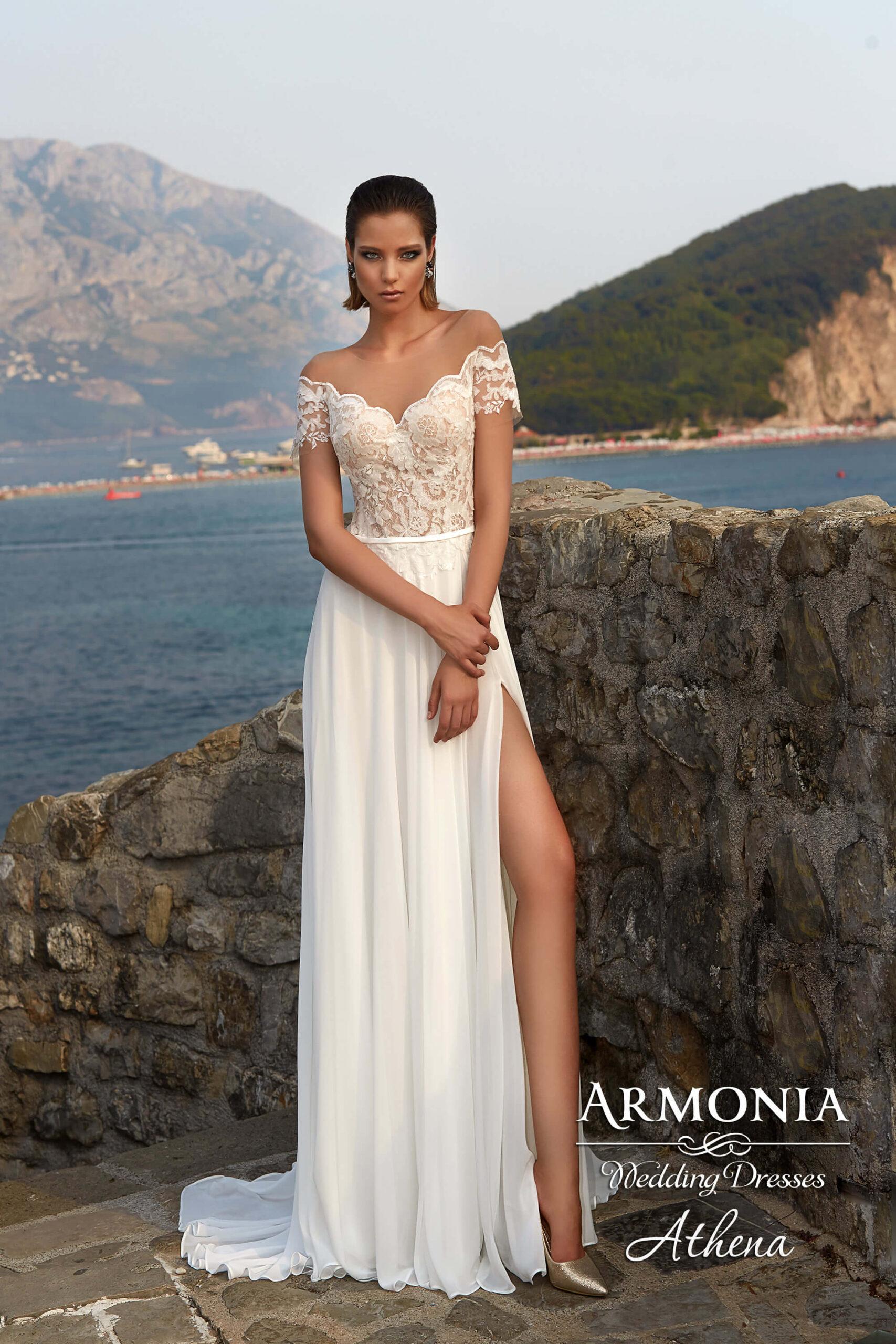 Весільна сукня А-силуету Athena